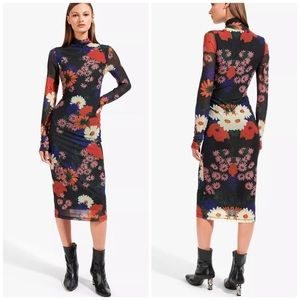 STAUD Priscilla Dress | Black Floral L